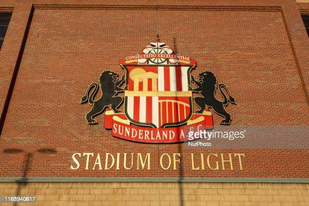 A general view of teh signage on the outside of the stadium before the Sky Bet League 1 match between Sunderland and Rotherham United at the Stadium...