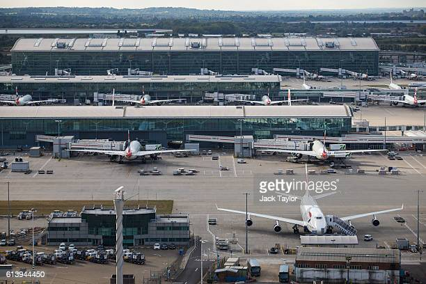 A general view of Terminal 5 of Heathrow Airport on October 11 2016 in London England The UK government has said it will announce a decision on...