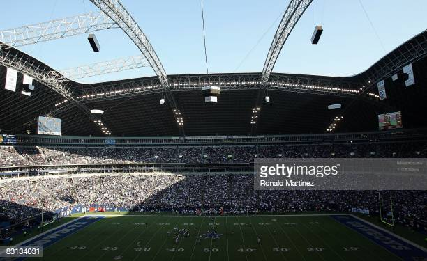 A general view of Texas Stadium during play between the Washington Redskins and the Dallas Cowboys on September 28 2008 in Irving Texas