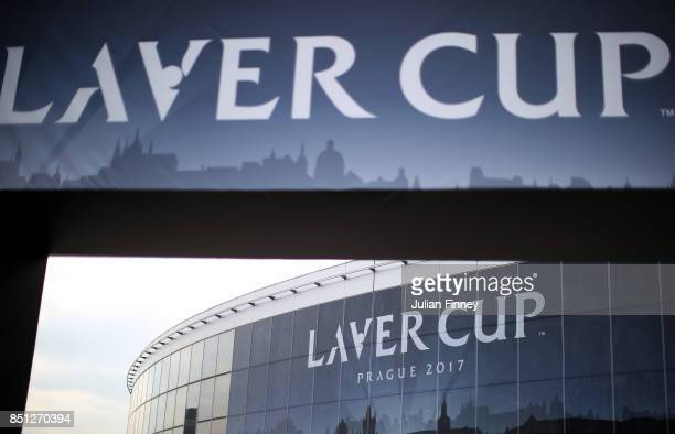 A general view of the 02 arena Prague ahead of the Laver Cup on September 22 2017 in Prague Czech Republic The Laver Cup consists of six European...