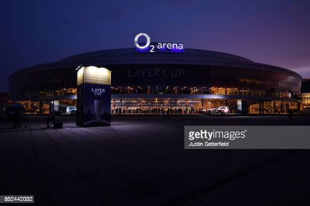 A general view of the 02 arena Prague on Day 2 of the Laver Cup on September 23 2017 in Prague Czech Republic The Laver Cup consists of six European...