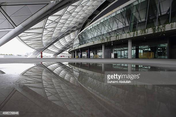 A general view of the 100 PLUS Promenade outside the National Stadium at Singapore Sports Hub on November 01 2014 in Singapore Another of the Sports...