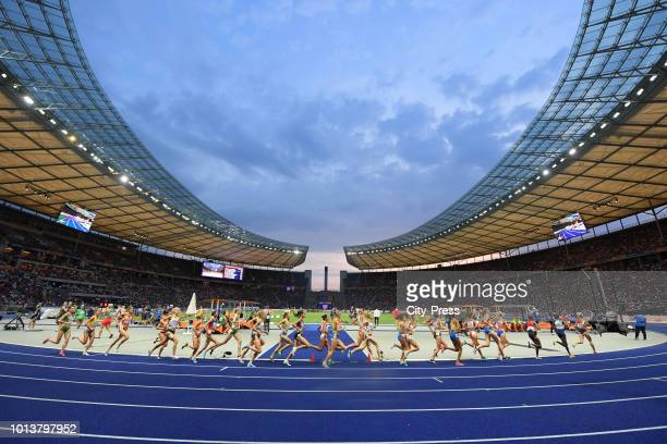 General view of the 10,000m Women Final during the European Athletics Championships at Olympiastadion on august 8, 2018 in Berlin, Germany.