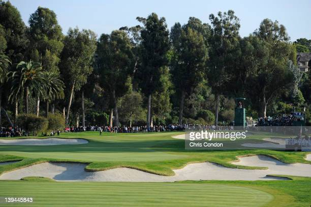 General view of the 10th hole during the final round of the Northern Trust Open at Riviera Country Club on February 19, 2012 in Pacific Palisades,...