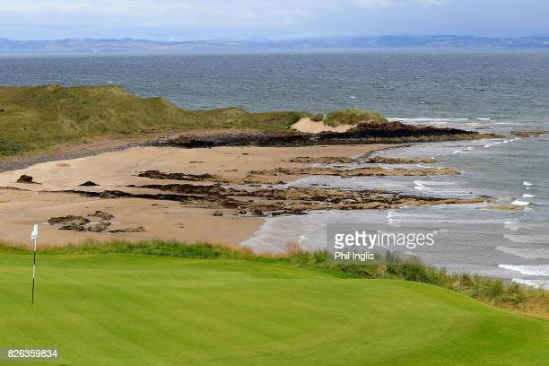A general view of the 10th hole during the first round of the Scottish Senior Open at The Renaissance Club on August 4 2017 in North Berwick Scotland