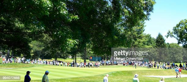 A general view of the 10th hole during the fourth and final round of A Military Tribute At The Greenbrier held on The Old White TPC on July 8 2018 in...