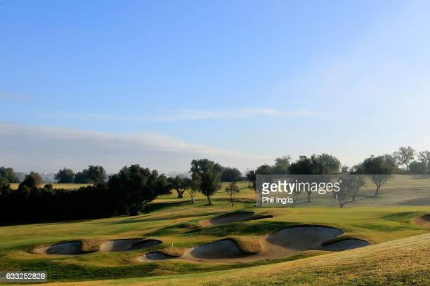 A general view of the 10th hole during the third round of the European Senior Tour Qualifying School Finals played at Vale da Pinta Pestana Golf...