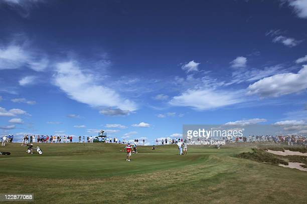 A general view of the 10th hole during the US Amateur Championship final round at Erin Hills Golf Course on August 28 2011 in Erin Wisconsin