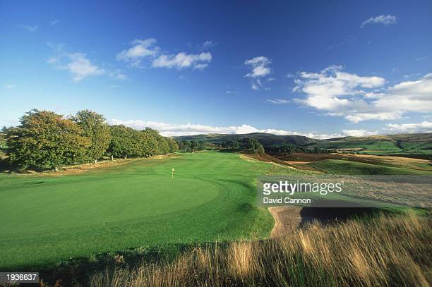 General view of the 10th hole on Kings golf course on January 1, 1996 at Kings golf course at the Gleneagles Hotel, Scotland.
