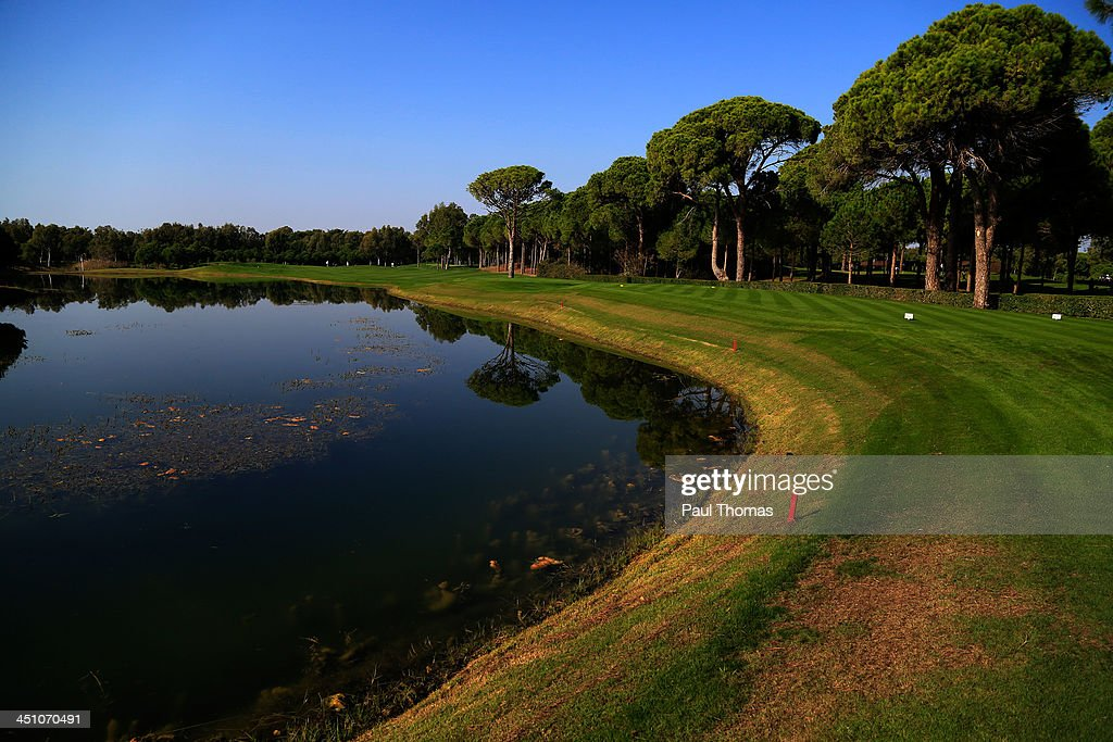 A general view of the 10th hole on the PGA Sultan Course during day one of The Golfplan Insurance Pro Captain Challenge final at Antalya Golf Club on November 21, 2013 in Antalya, Turkey.
