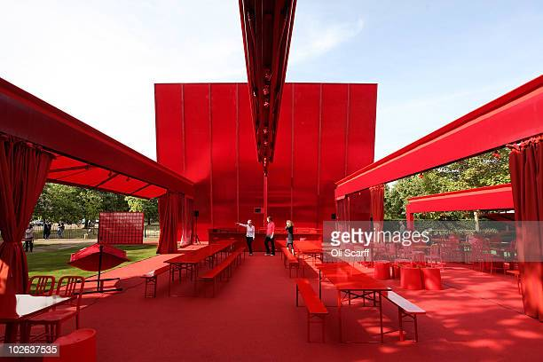 A general view of the 10th Serpentine Gallery Pavilion designed by Jean Nouvel on July 6 2010 in London England The Pavilion which officially opens...