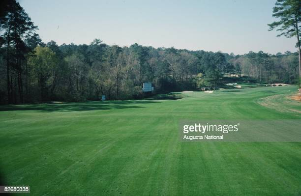 A general view of the 11th and 12th holes known as part of Amen Corner before the 1978 Masters Tournament at Augusta National Golf Club in March 1978...