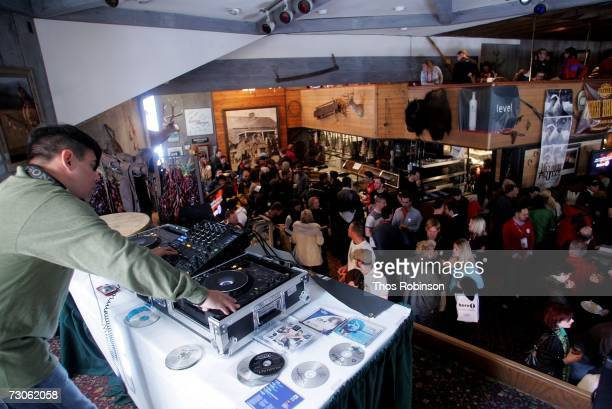 General view of the 11th Annual Outfest's Queer Brunch presented By Here Networks at Grub Steak restaurant during the 2007 Sundance Film Festival on...
