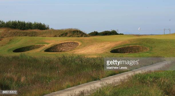 A general view of the 11th green during the Glenmuir PGA Professional Championship at Dondoanld Links on June 16 2009 in Dundonald Scotland