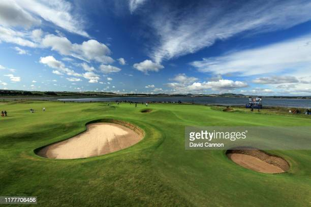 General view of the 11th green from in front of the seventh green during the third round of the Alfred Dunhill Links Championship on the Old Course...