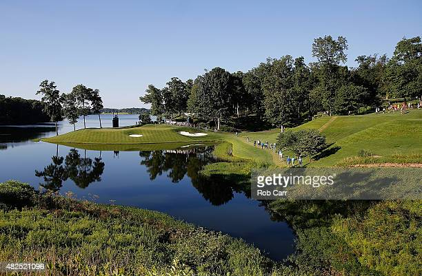 General view of the 11th hole during the second round of the Quicken Loans National at the Robert Trent Jones Golf Club on July 31, 2015 in...