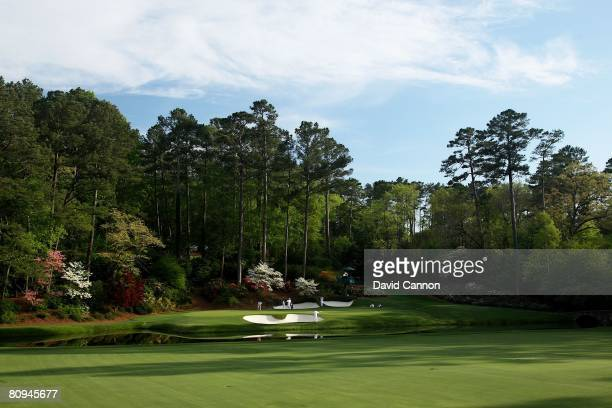A general view of the 12th green during the first round of the 2008 Masters Tournament at Augusta National Golf Club on April 10 2008 in Augusta...
