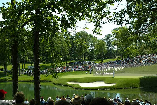 A general view of the 12th green during the third round of The Memorial Tournament at Muirfield Village Golf Club on June 5 2004 in Dublin Ohio