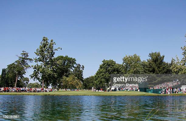 General view of the 12th hole during the final round of the United States Senior Open at the Inverness Club on July 31, 2011 in Toledo, Ohio.