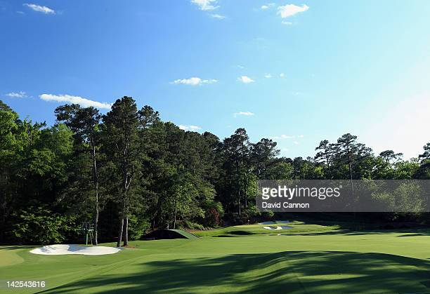 A general view of the 12th hole during the second round of the 2012 Masters Tournament at Augusta National Golf Club on April 6 2012 in Augusta...