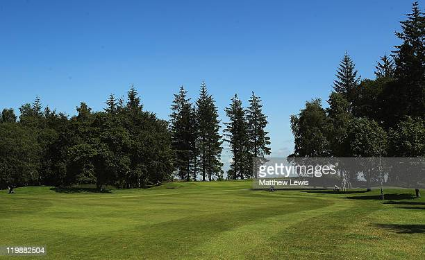 A general view of the 12th hole during the Virgin Atlantic PGA National ProAm Championship Regional Final at Crieff Golf Club on July 26 2011 in...