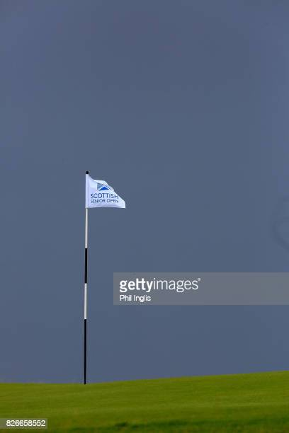 General view of the 13th green during the second round of the Scottish Senior Open at The Renaissance Club on August 5 2017 in North Berwick Scotland