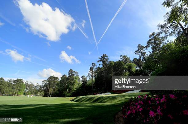 General view of the 13th green during the third round of the Masters at Augusta National Golf Club on April 13, 2019 in Augusta, Georgia.