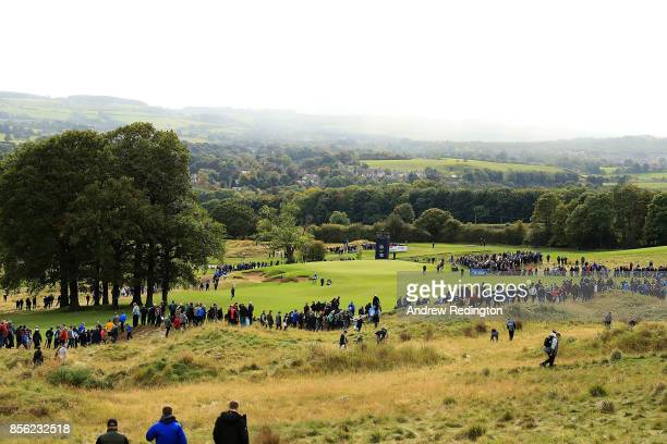 General view of the 13th hole during day four of the British Masters at Close House Golf Club on October 1, 2017 in Newcastle upon Tyne, England.