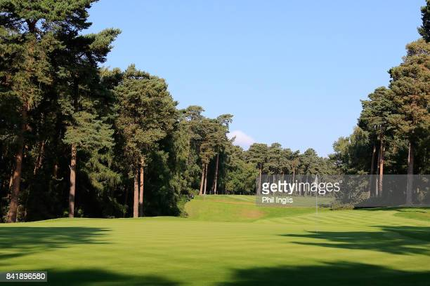 A general view of the 13th hole during the second round of the Travis Perkins Senior Masters played on the Duke's Course at Woburn Golf Club on...