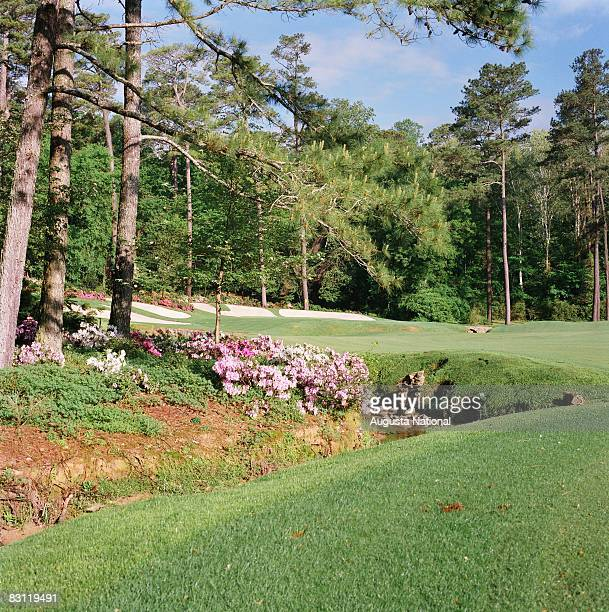 A general view of the 13th hole from the left side of the fairway at Augusta National Golf Club in Augusta Georgia