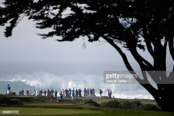 A general view of the 13th tee box during the second round of the ATT Pebble Beach National ProAm at the Monterey Peninsula Country Club on February...