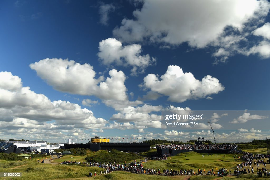 A general view of the 14th green and surroundings during the first round of the 146th Open Championship at Royal Birkdale on July 20, 2017 in Southport, England.