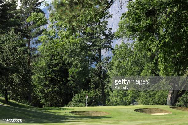 General view of the 14th green during the first round of the Swiss Seniors Open played at Golf Club Bad Ragaz on July 05, 2019 in Bad Ragaz,...