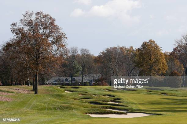 A general view of the 14th hole during Curtis Cup practice at Quaker Ridge GC on November 22 2017 in Scarsdale New York