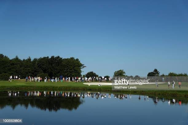 General view of the 15th green during day one of Porsche European Open at Green Eagle Golf Course on July 26 2018 in Hamburg Germany