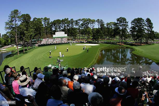 General view of the 15th green during practice for The Masters on April 4 2006 at the Augusta National Golf Club in Augusta Georgia