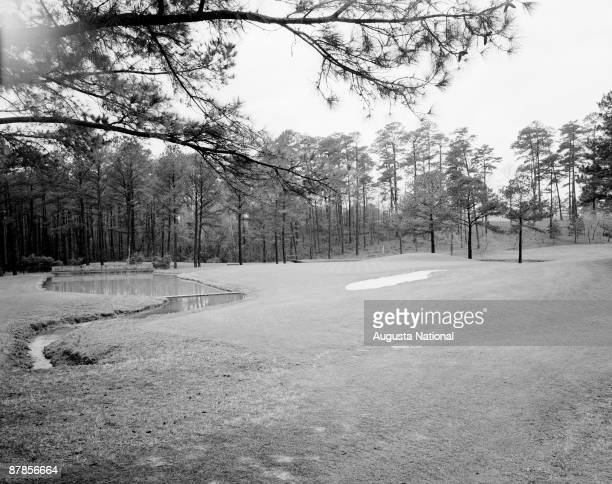 A general view of the 15th hole at Augusta National Golf Club on January 18 1960 in Augusta Georgia