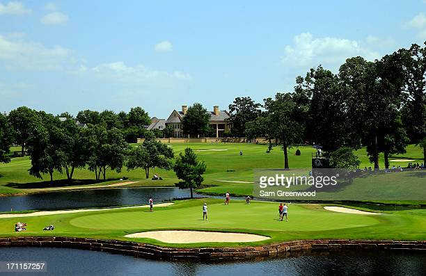 A general view of the 15th hole during the second round of the Walmart NW Arkansas Championship Presented by PG at the Pinnacle Hills Country Club on...