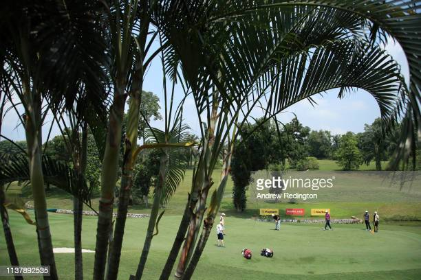 General view of the 16th green during Day Four of the Maybank Championship at Saujana Golf Country Club Palm Course on March 24 2019 in Kuala Lumpur...