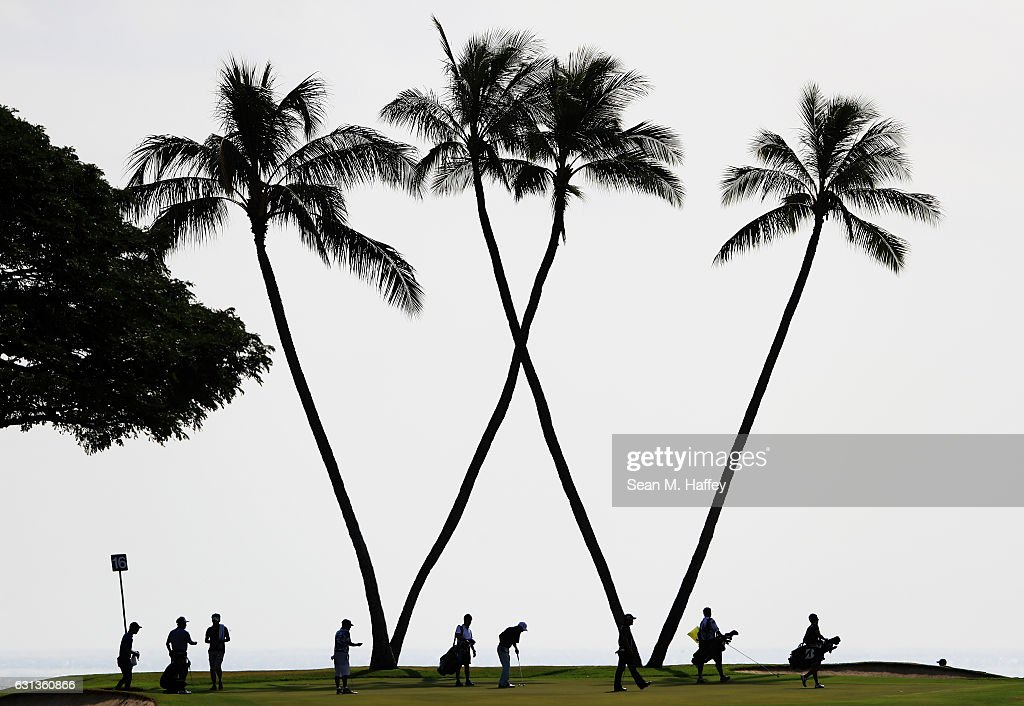A general view of the 16th green during practice rounds prior to the Sony Open In Hawaii at Waialae Country Club on January 9, 2017 in Honolulu, Hawaii.