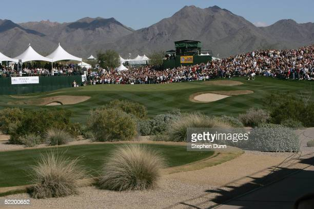 A general view of the 16th green during the third round of the FBR Open on February 5 2005 at the Tournament Players Club of Scottsdale in Scottsdale...