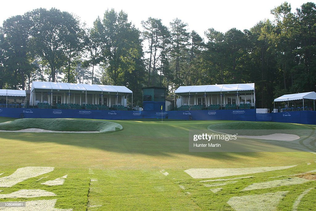 A General View Of The 16th Hole Is Seen At Sedgefield Country Club On  August 21