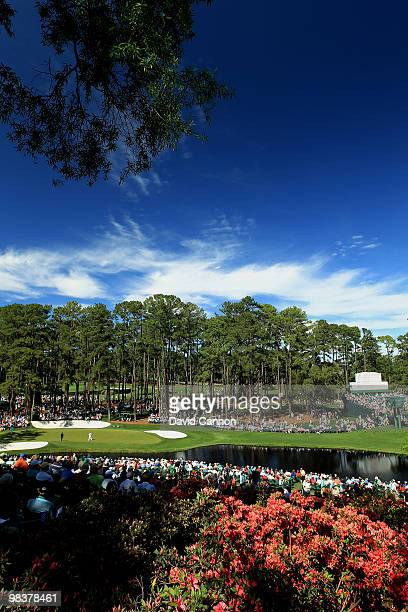 General view of the 16th hole is seen during the third round of the 2010 Masters Tournament at Augusta National Golf Club on April 10, 2010 in...