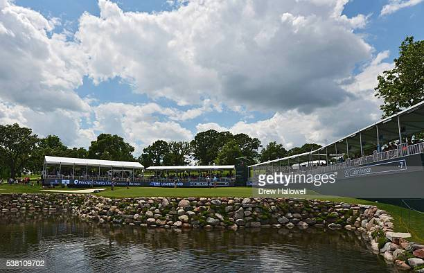 A general view of the 17th green and gallery during the second round of the Principal Charity Classic at the Wakonda Club on June 4 2016 in Des...