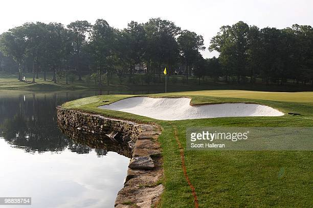 General view of the 17th green at the Quail Hollow Club on May 1, 2010 in Charlotte, North Carolina.