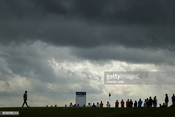 General View of the 17th green during day one of the Dubai Duty Free Irish Open at Portstewart Golf Club on July 6 2017 in Londonderry Northern...