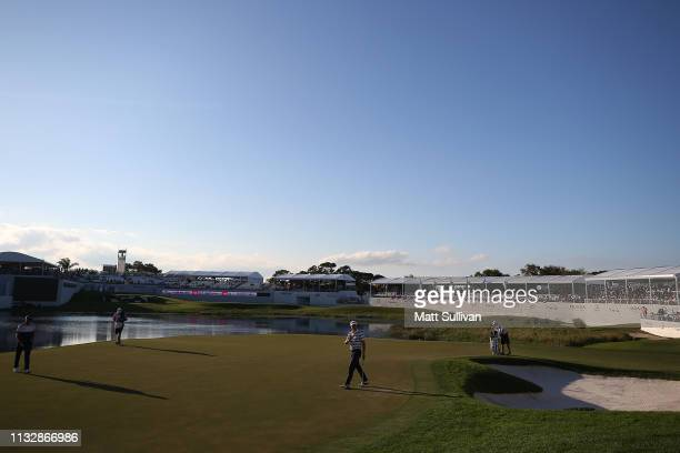 A general view of the 17th green during the first round of the Honda Classic at PGA National Resort and Spa on February 28 2019 in Palm Beach Gardens...