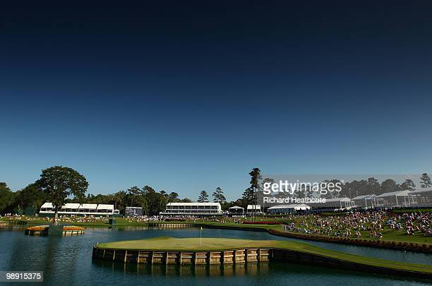 A general view of the 17th green during the second round of THE PLAYERS Championship held at THE PLAYERS Stadium course at TPC Sawgrass on May 7 2010...