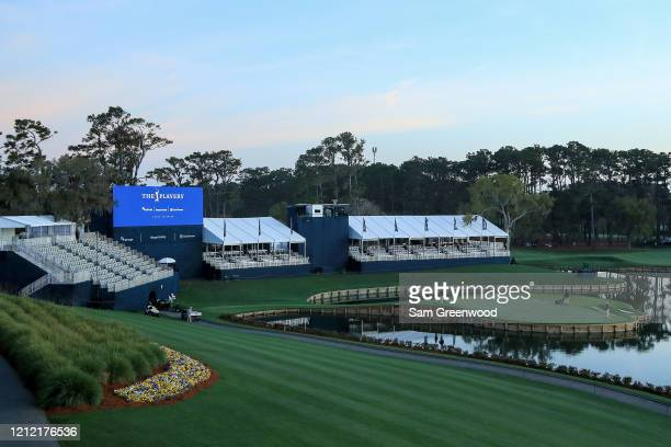 General view of the 17th green is seen after the cancellation of the The PLAYERS Championship and consecutive PGA Tour events through April 5th,2020...