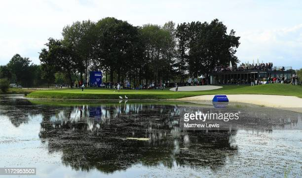 A general view of the 17th hole during Day Three of the Porsche European Open at Green Eagle Golf Course on September 07 2019 in Hamburg Germany